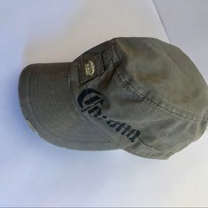Concept One Corona army green hat / cap distress